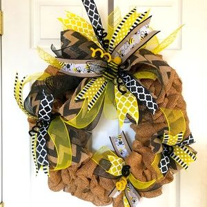 Bumblebee Burlap Wreath